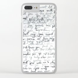 Typograph Clear iPhone Case