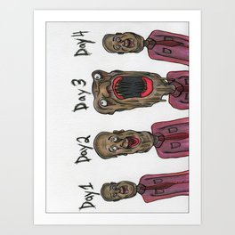 Disease Cycle Art Print