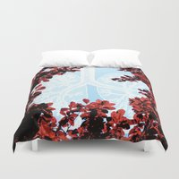 lungs Duvet Covers featuring Lungs by Keka Delso