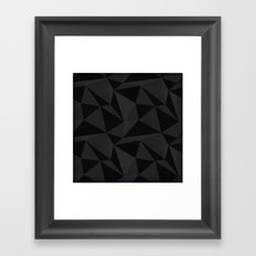 Triangular Black Framed Art Print