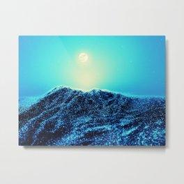 Sparkling Dessert Dunes Nightlight Metal Print