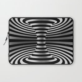 Connected channel (b-w) Laptop Sleeve