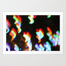 Rainbow Commas Art Print