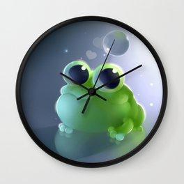 Apple Frog Wall Clock