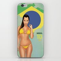 brazil iPhone & iPod Skins featuring Brazil by Kingdom Of Calm - Print On Demand