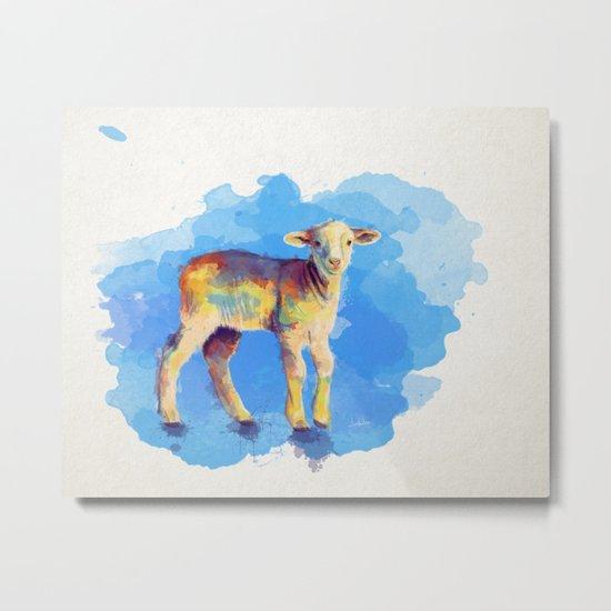Litte Lamb Metal Print