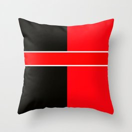 Team Colors 6...red,black,white Throw Pillow