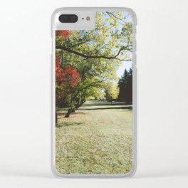 October Colours Clear iPhone Case