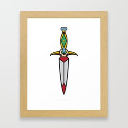 Traditional Dagger Framed Art Print