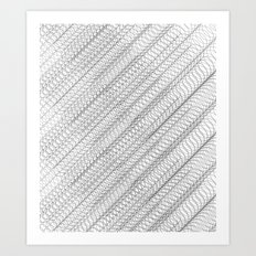 Overlapping Circles Pattern Art Print
