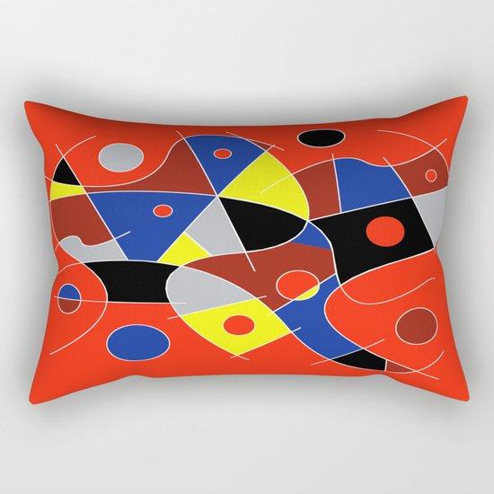 Abstract #222   The Cellist Rectangular Pillow