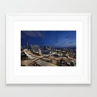 seattle Framed Art Prints featuring Seattle by Aaron Morris