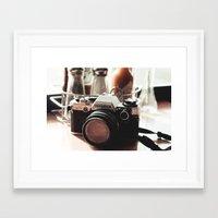 heroes of olympus Framed Art Prints featuring Olympus by Grace Lind