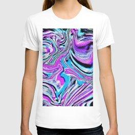 purple polish T-shirt