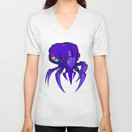 Mighty Mite - Purple Unisex V-Neck