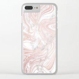 Rose Gold Wind Clear iPhone Case