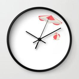 Beach Mama Vacation Tropical Cruise Retiree T-Shirt Wall Clock