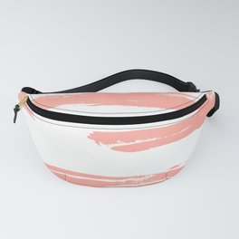 Pretty Pink Brush Stripes Horizontal Fanny Pack