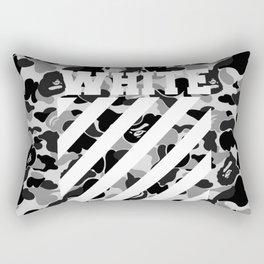 off white black bape Rectangular Pillow