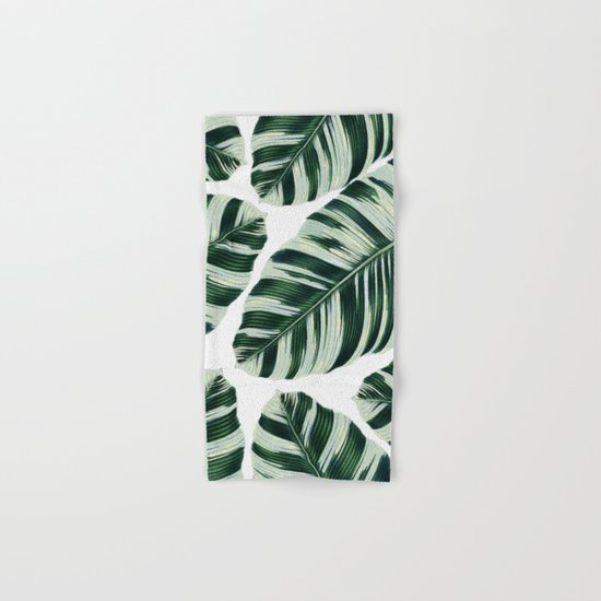 Tropical Foliage #society6 #buyart #decor Hand & Bath Towel