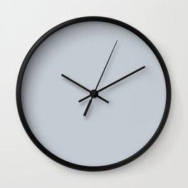 Lavender Gray Solid Color Block Wall Clock