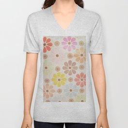 Flower Daisy Pattern Unisex V-Neck