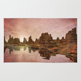 Sunset Mountain Reflections Rug