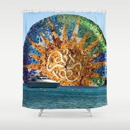 Park Guell x Mykonos Shower Curtain
