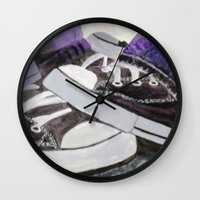 converse Wall Clocks featuring Converse by Leslie Creveling