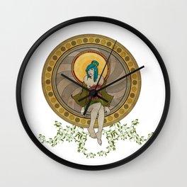 Mandala Girl Wall Clock