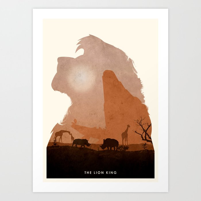 The Lion King Art Print By Ryanswannick