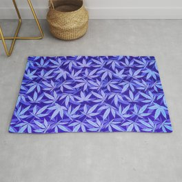 Purple Haze - Cannabis / Hemp / 420 / Marijuana  - Pattern Rug