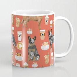 Australian Cattle Dog coffee pet friendly dog breed dog pattern art Coffee Mug