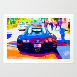 Bugatti Veyron On Rodeo  Art Print