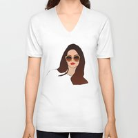 lana V-neck T-shirts featuring LANA by Share_Shop