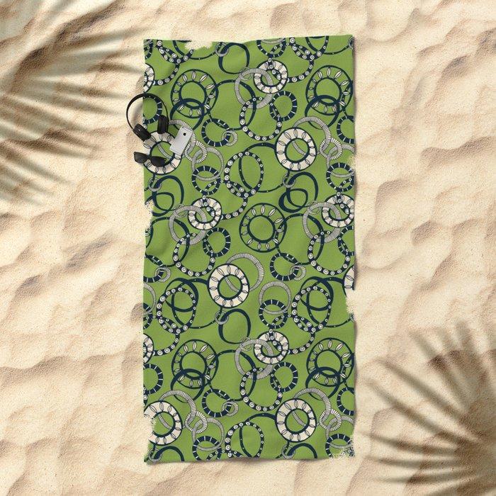 Honolulu hoopla green Beach Towel