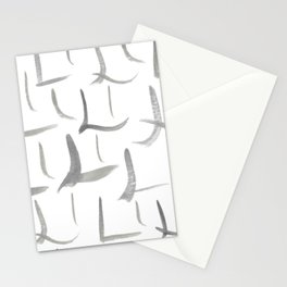 Watercolor L's - Grey Gray Stationery Cards