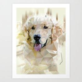 Golden Retriever (Low Poly) Art Print