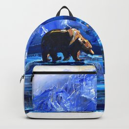 """Blue Bear"" Original, art, Bear Lover, bear art, bear painting, brown bear, nature, wildlife love... Backpack"
