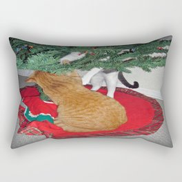 12 cats a-climbing Rectangular Pillow