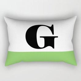 Monogram Letter G (color block) Rectangular Pillow