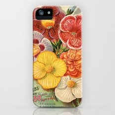 Vintage Floral Begonias iPhone (5, 5s) Slim Case