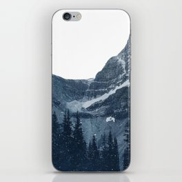Transparent Snowy Mountains iPhone Skin