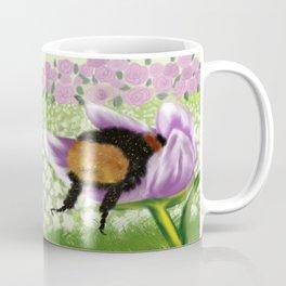 Bee Butt In A Purple Tulip Coffee Mug