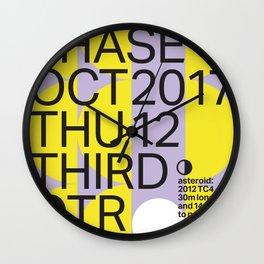 Third Quarter Moon - Oct 2017 Wall Clock