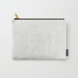 Cream on White Mandala Circle of Life Carry-All Pouch