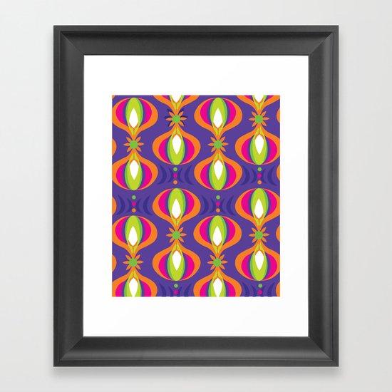 Oohladrop Purple Framed Art Print