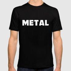 Metal MEDIUM Black Mens Fitted Tee