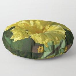 Golden Iris flower - 'Power of One' Floor Pillow