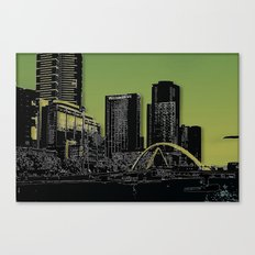 Melbourne City - Footbridge over Yarra River  Canvas Print